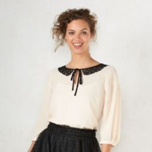 B2G1 Lauren Conrad Snow White Peter Pan Collar Top